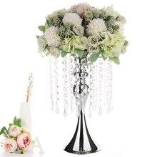 Style européen or argent fer chandelier mariage fleur support Table à manger romantique chandelier idées fleur support décorer