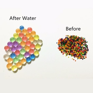 Dropshipping  Pearl Shaped Crystal Soil Water Beads Mud Grow Magic Jelly Balls   Kids Children Toy