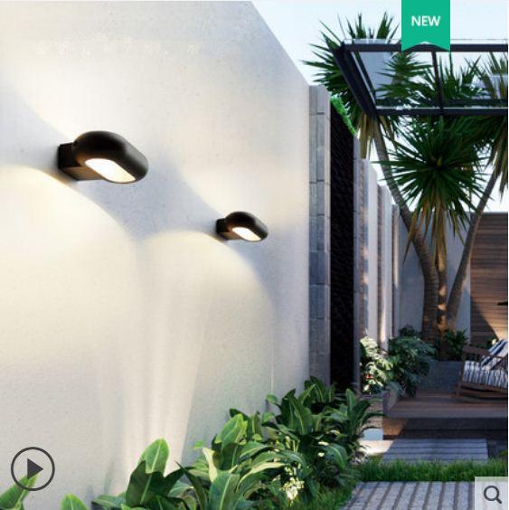 Wall lamp outdoor waterproof LED aisle modern minimalist staircase Nordic creative wall balcony outdoor wall garden light enlarge