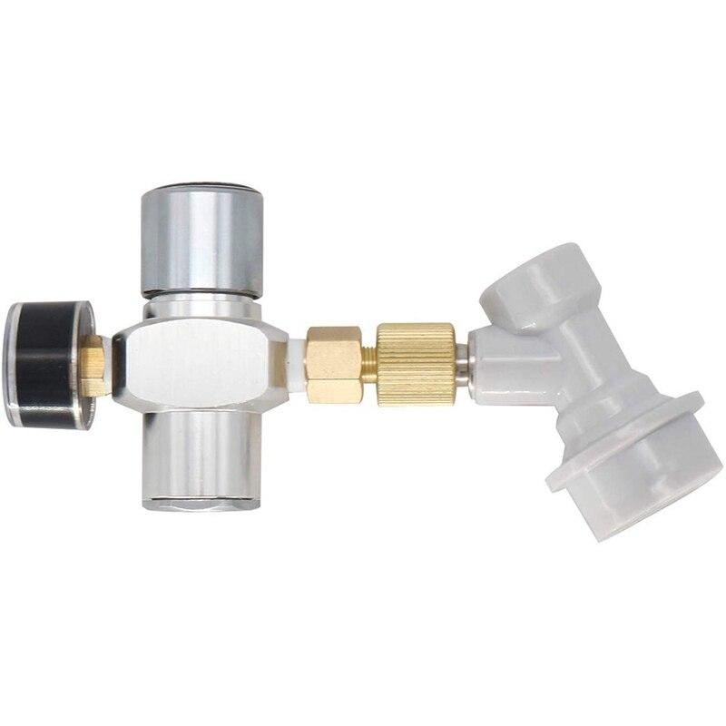 Kit de cargador de CO2 regulado con desconexión de Gas 0-30 PSI para barril de cerveza Kegerator Soda (cargador de CO2)