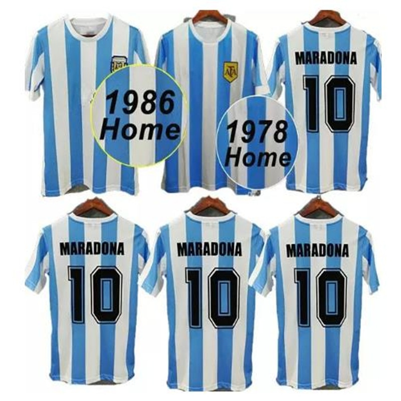 Camiseta De fútbol para hombre, Camisa Retro De Maradona, 78 86, 1986