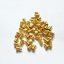 Universal for Shure Headphone DIY MMCX Female Socket mmcx Nut Screws Pure Copper Headphone Plug 4 sets