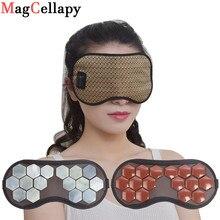 Auge Maske Turmalin Auge Massager Elektrische Jade Stein Massage Wärme Therapie Germanium Infrarot Entspannung Gesundheit pflege Geschenk