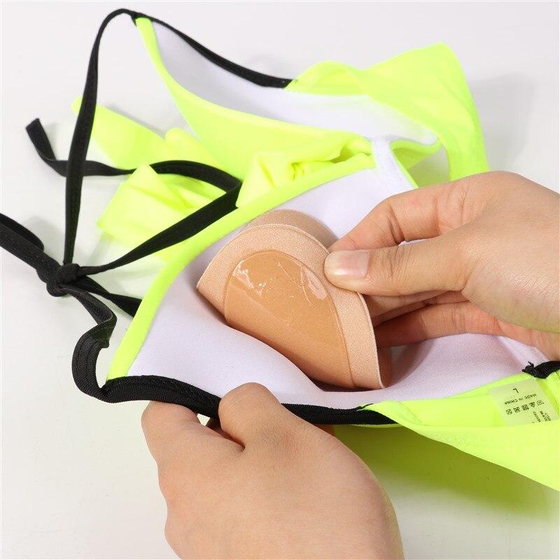 Bikini Chest Pad Bikini Set Push Up Padded Bikinis Swimsuit Women Swimwear Women Thicker Breathable Sponge Bra Pad