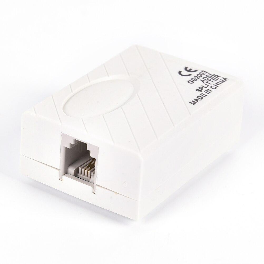 Телефон RJ11 линии ADSL модем Широкополосный телефонная линия фильтр сплиттер 1 шт.