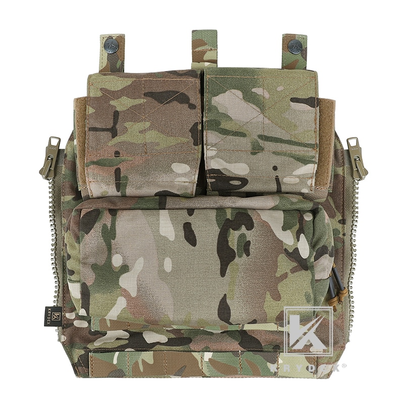 KRYDEX Tactical Pack Zip-on Panel Backpack Multicam Tactical Airsoft Combat Gear Carrier Bag For CPC