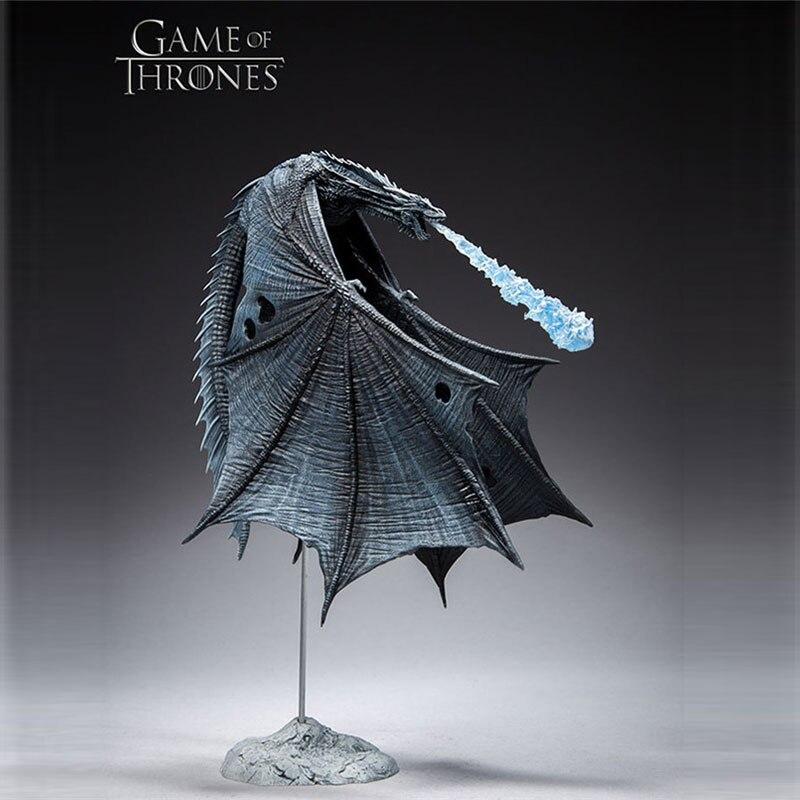 Kefang Juego de tronos dragón de hielo móvil hecho a mano juguete modelo decoración Deluxe colección de figuras de acción modelo Juguetes