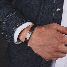 Mcllroy croix manchette Bracelet Bracelet hommes titane acier inoxydable Antique acier plaqué Bracelet pour hommes ouverture Bracelet bijoux