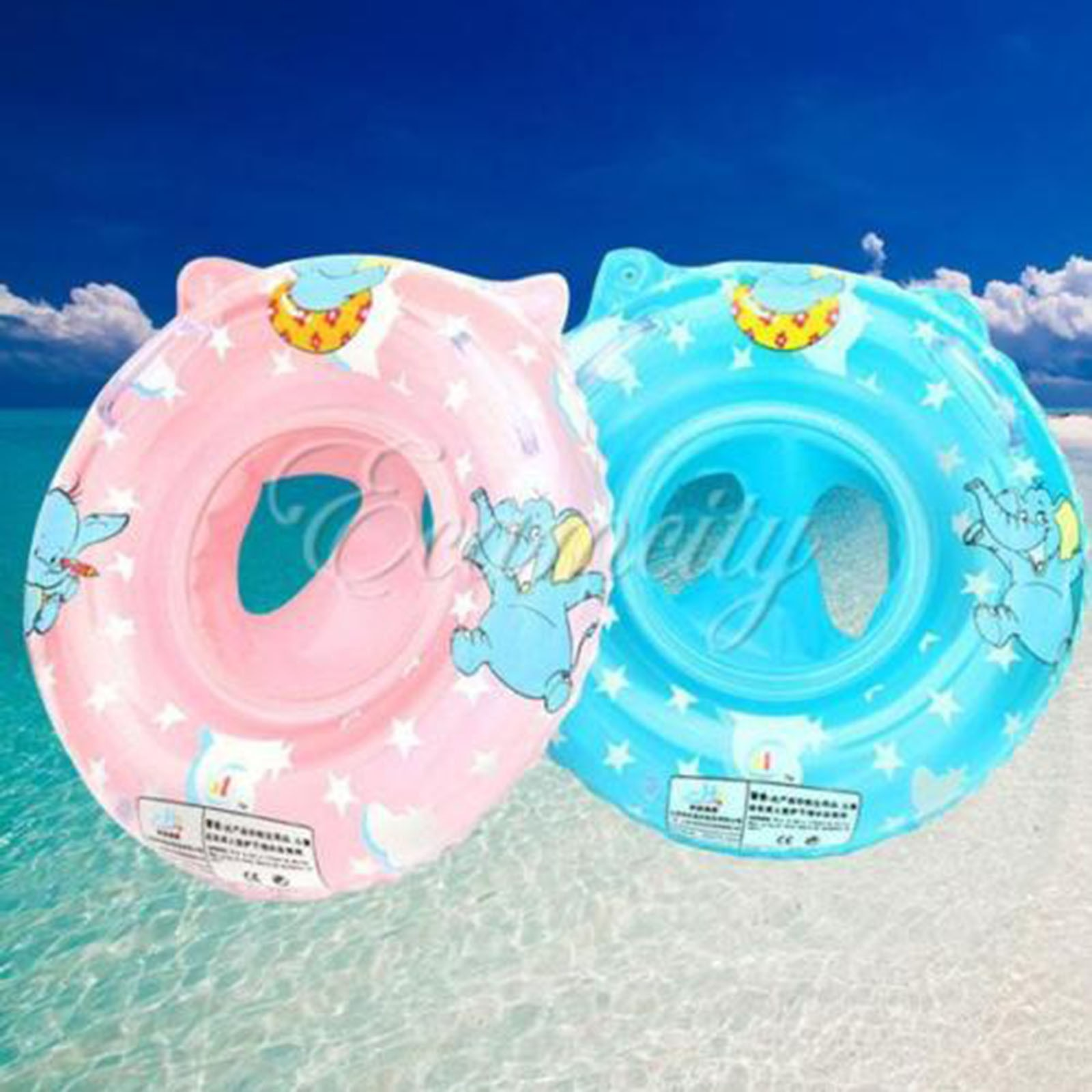 Swimming Pool Ring Handle Pro Inflatable Baby Chair Child Raft Seat Float Safety Child Handle Safety Seat Float Ring Raft Chair