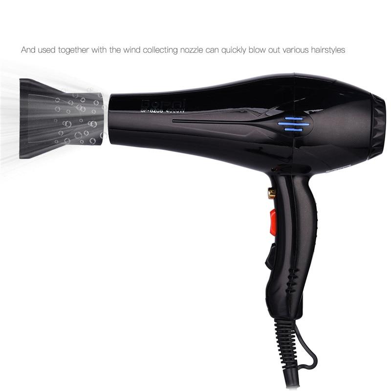 4000W Krachtige Professionele Salon Föhn Negatieve Ionen Föhn Elektrische Haardroger Hot/Koude Wind Met Air Verzamelen nozzle enlarge