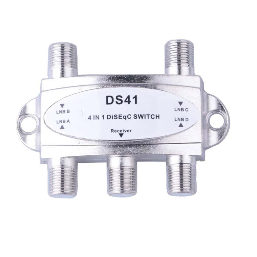 ТВ DiSEqC переключатель 4x1 DisEQC коммутатор спутниковая антенна плоский LNB переключатель для ТВ приемника
