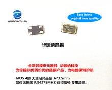10 pièces 100% original nouveau 6035 4 broches passif SMD cristal oscillateur télécommande signal cristal RF 9.8437M 9.84375MHZ