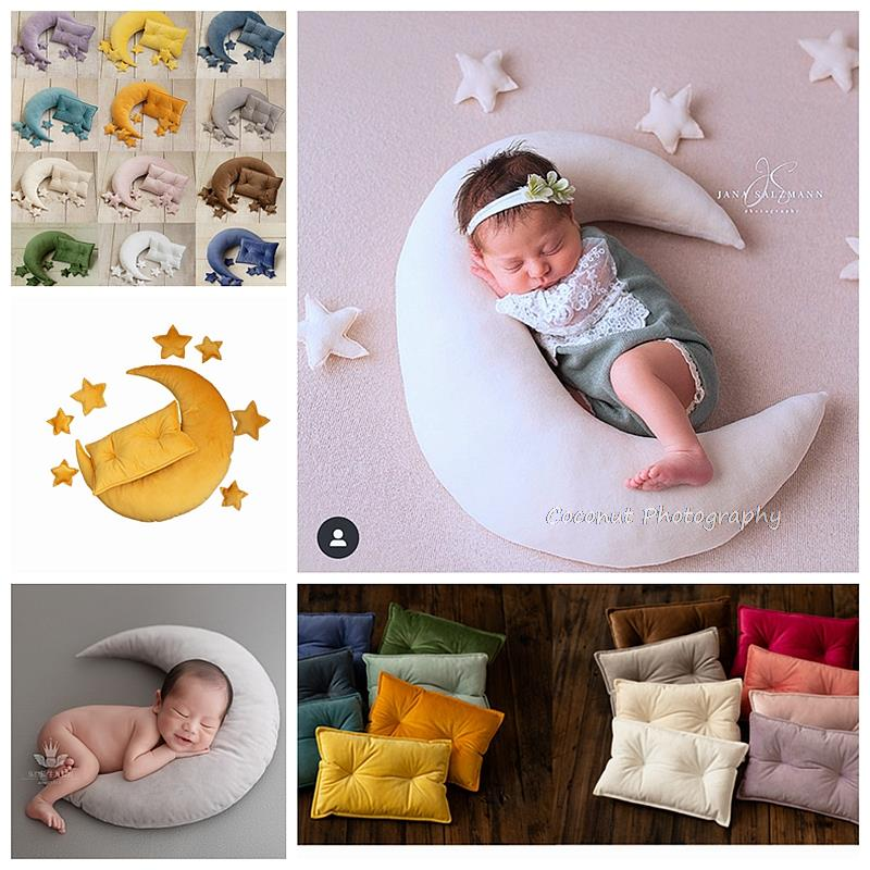 newborn baby photography Coconut Newborn Photography Props Star moon fairy tale shooting pillow newborn baby star moon with baby photography