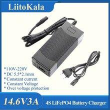 LiitoKala 12V caricabatteria 14.6V 5A Caricatore 4S 14.4V 3A LiFePO4 batteria 14.4V LiFePO4 Caricabatteria ingresso 100-240V di Sicurezza Stabile