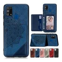 rfid blocking wallet case for huawei p40 lite e honor 30s 9a 9x 8s 7s 10i 20 nova 5t mate 30 pro p30 p20 lite 2019 flip cover
