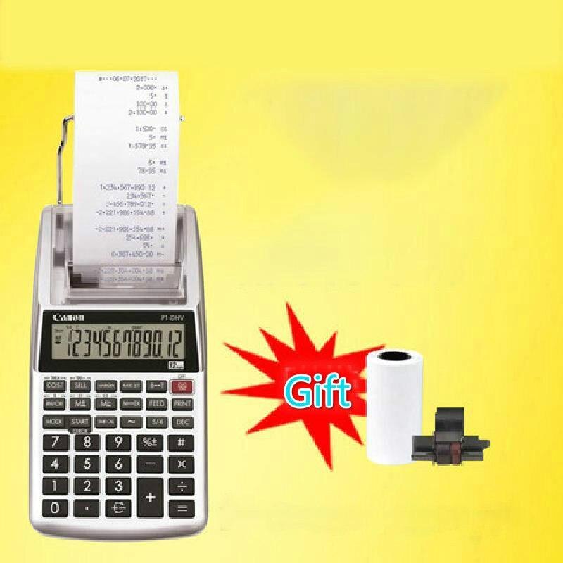 حقيقية P1-dhvg عجلة الحبر أحادية اللون نوع الطباعة 12 أرقام آلة حاسبة P1 عملية الكمبيوتر الطباعة