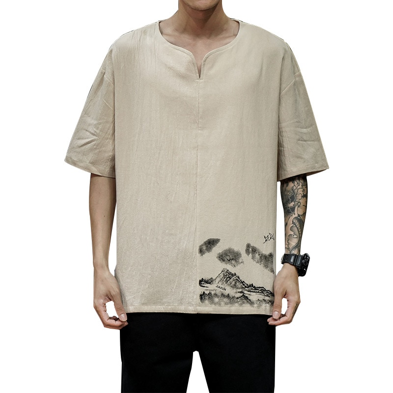 Camisetas divertidas de verano para hombre, camisetas de gran tamaño para hombre, camisetas blancas de algodón a la moda, camiseta informal 5XL, camiseta para hombre, ropa de calle