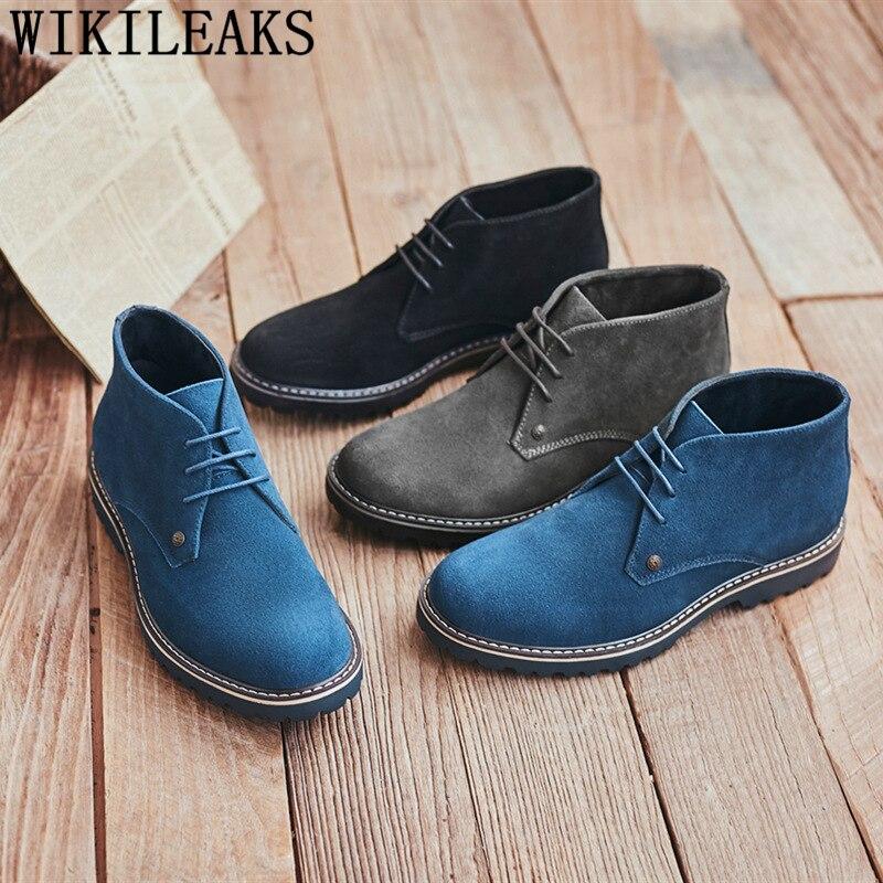 Chelsea-Botas de moto para Hombre, zapatos formales, Botas de desierto negras, Calzado