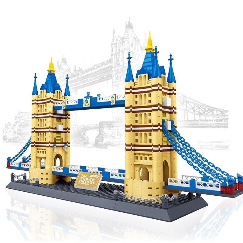 بناء كتل برج جسر لندن نموذج التوأم جسر البناء شارع عرض اللعب العالم الشهير العمارة طبق الاصل