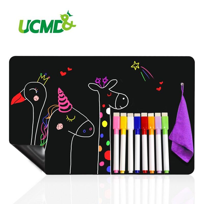 AliExpress - Magnetic BlackBoard Calendar for Kitchen Refridgerator Chalkboard Menu Planner Board Fridge Stickers With 8 color Chalk Markers