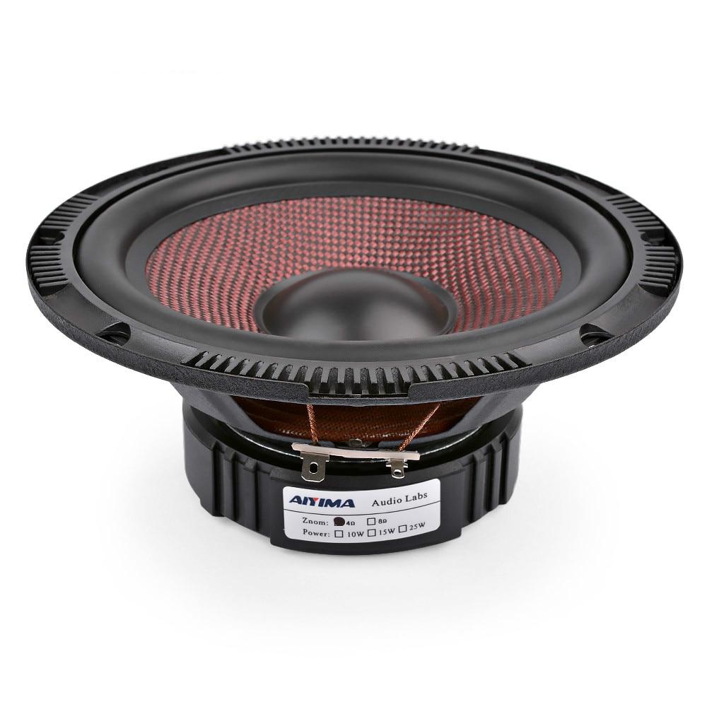 AIYIMA 6,5 pulgadas de Audio de coche de gama media altavoces de 4 8 Ohm 60 W de alta potencia de fibra de vidrio música Woofer altavoz de sistema de sonido
