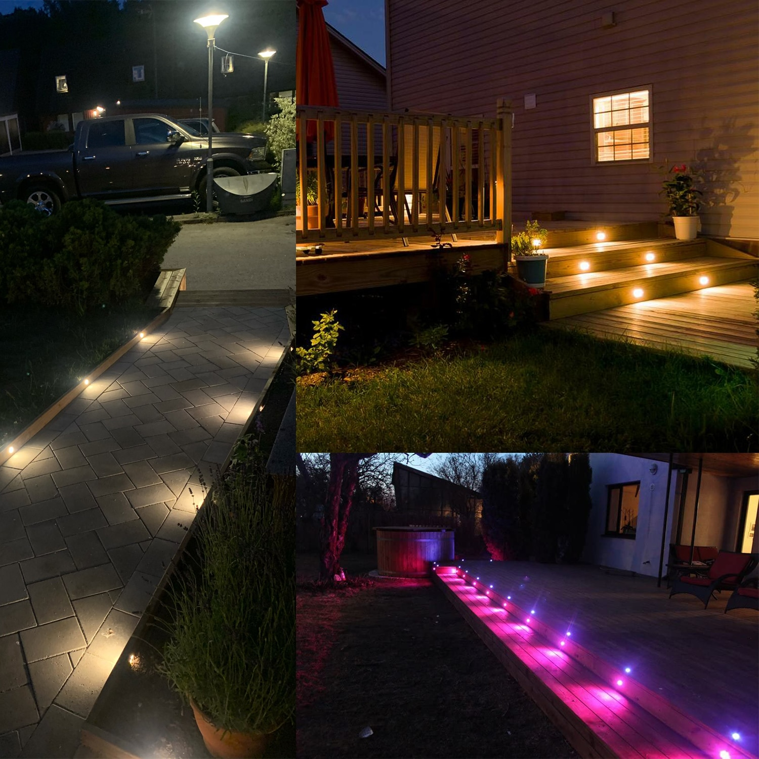 QACA Low voltage 0.6W LED Deck Light Outdoor Garden Patio Stairs Landscape Decor LED Lighting In-ground 20pcs/set B110-20 enlarge