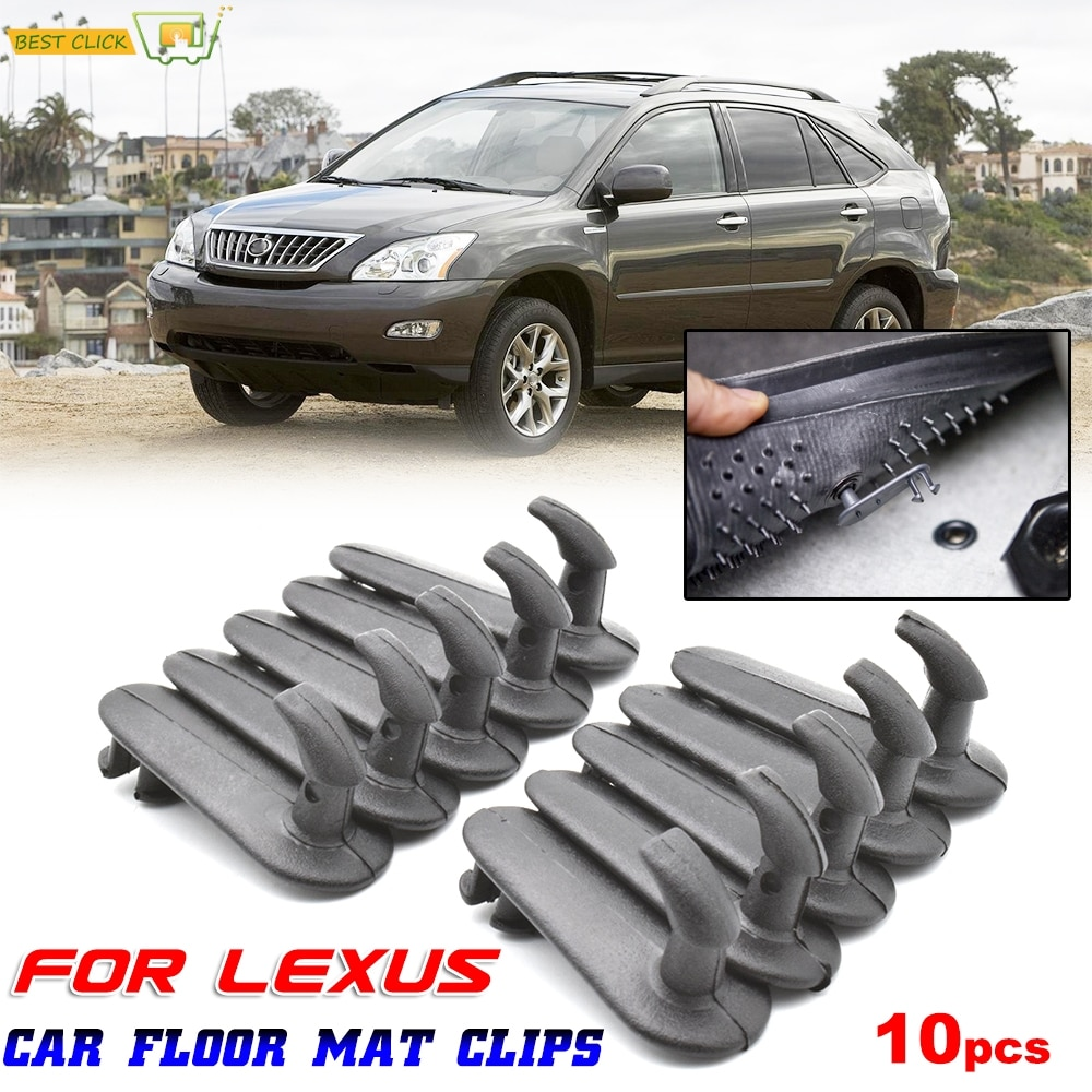 10pcs Car Floor Mat Clips Carpet Retainer Grips Holders Fixing Clamps Hooks Retention Fastener For Lexus ES RX IS GX GS LS LX