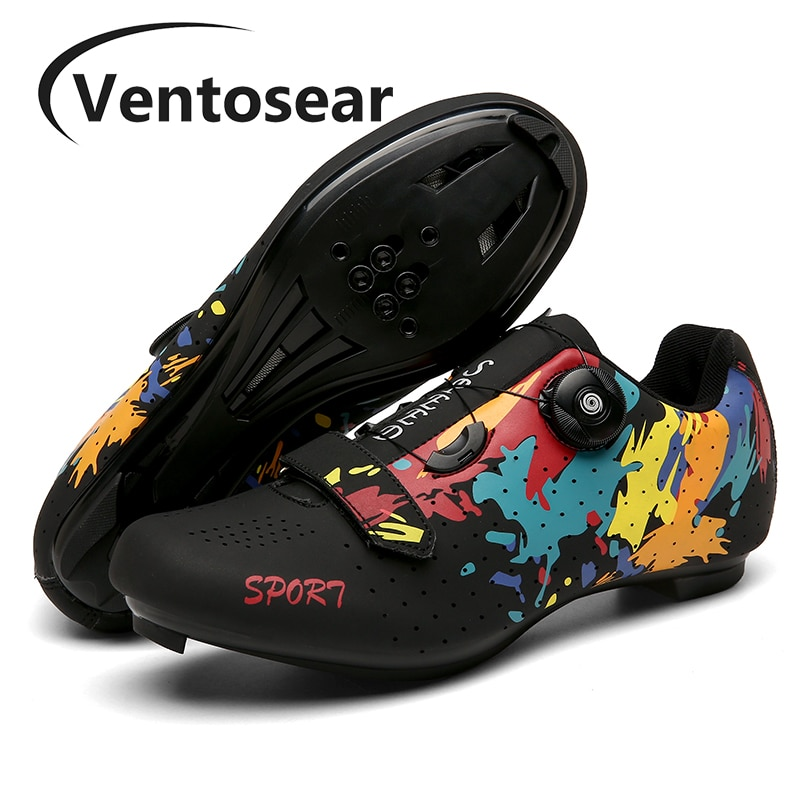Ventosear Men Flat Road Cycling Sneakers Women Spring Mountain Enduro Racing Speed Bicycle Shoes Male Indoor Spinning Footwear