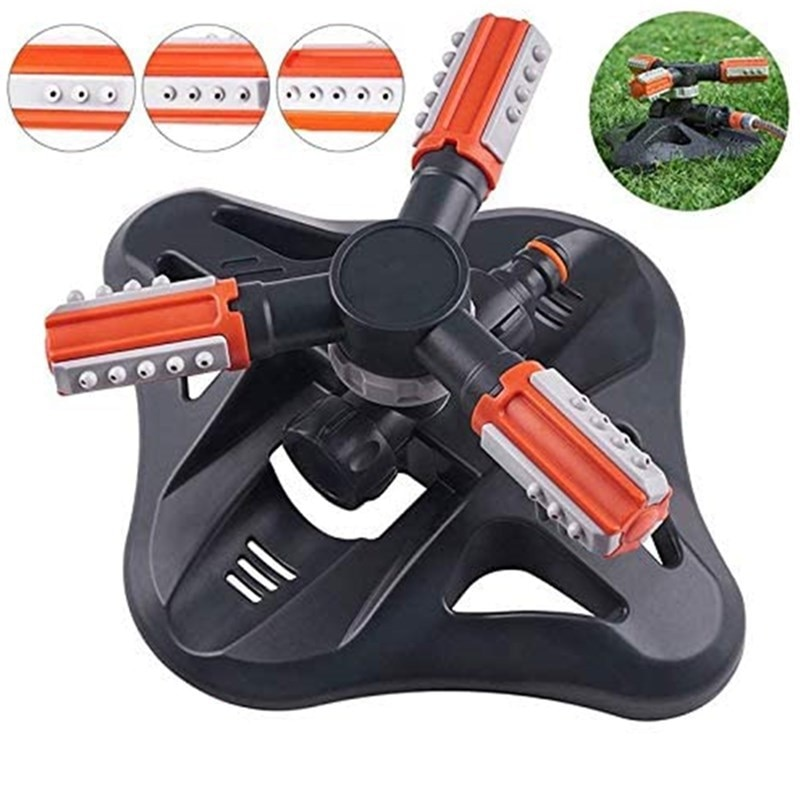 New lawn sprinkler new type of automatic spraying three-prong sprinkler with rubber coating