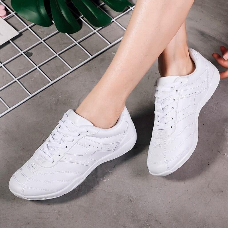Girls Lightweight Flats Athletics Aerobics Shoes Women Dance Training Fitness Sneakers Children Non-