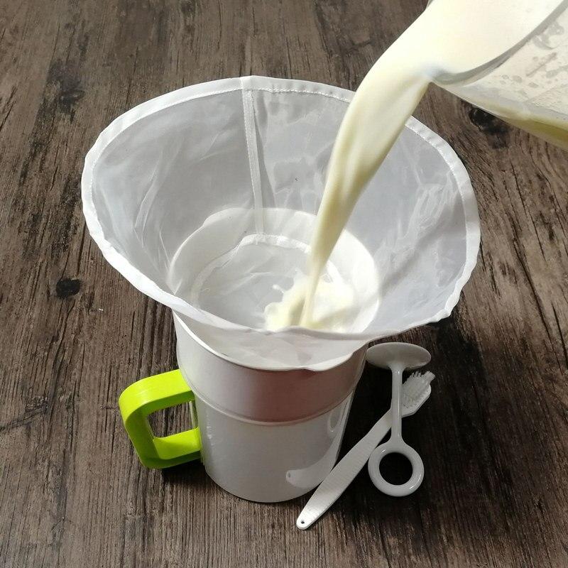 Filtro de leite de soja para vinho e sucos, gaze ultrafina/de alta densidade com filtro de nylon