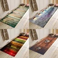 retro board printing flannels absorbent anti skid entry mats bathroom mats kitchen mats and bedside mats