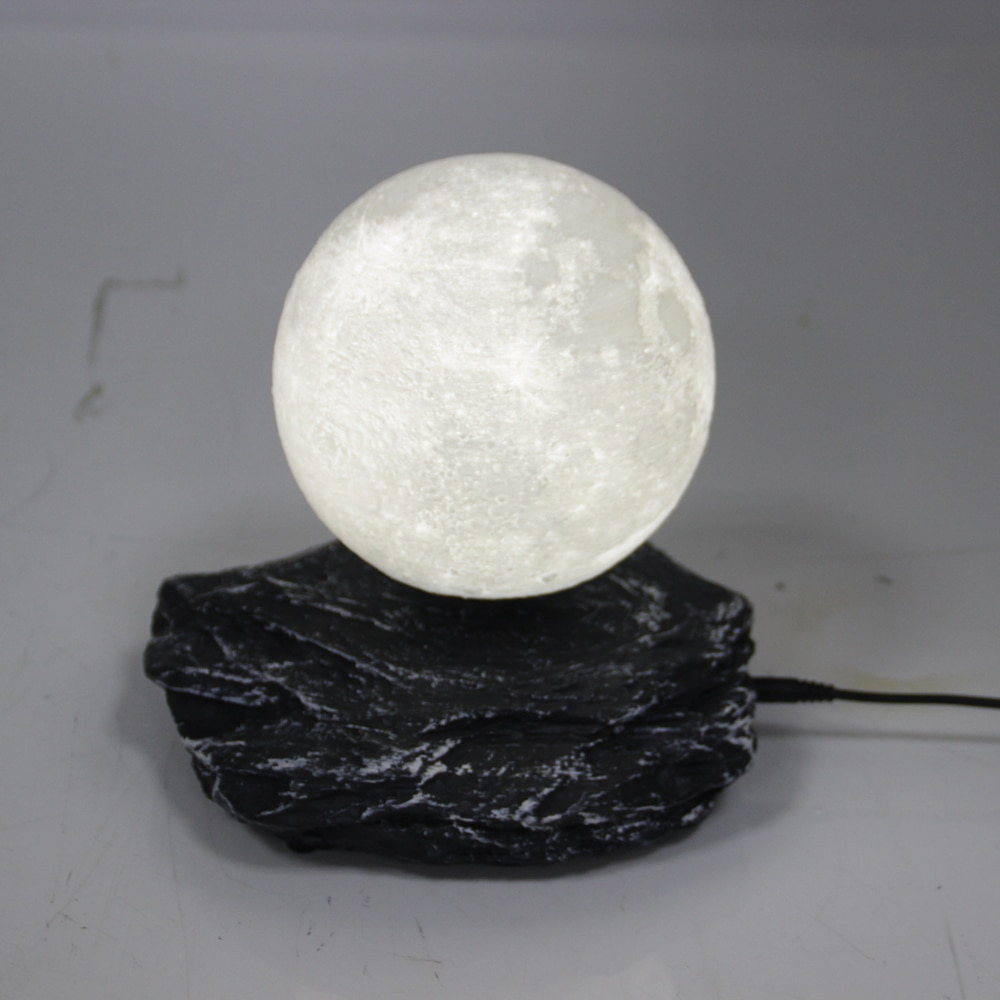 Magnetic Levitation 3D Printing Moon Light Meteorite Base Night Light Floating Romantic HomeDecor Built in Battery Creative Gift enlarge