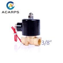 """1/8 """"1/4"""" 3/8 """"messing Elektrische Magnetventil 12V 24V 220V 110V Normal Geschlossen magnetventil Für Wasser Öl Luft"""