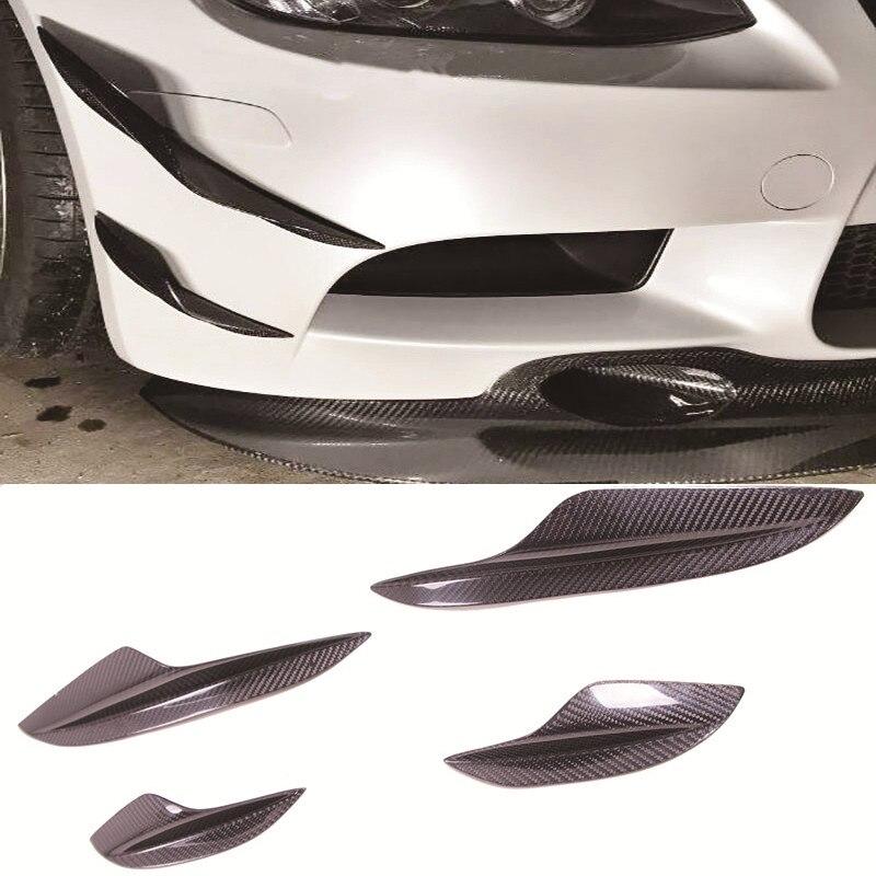 Divisor de alerón delantero de fibra de carbono estilo K Canard 4 unids/set apto para BMW E90 E92 E93 M3