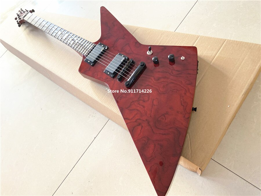 High quality custom version of rosewood wine red electric guitar can be customized free shipping