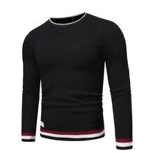 De algodón de alta calidad de marca para hombre de manga larga maillots de cuello redondo para hombre de punto décontracté hauts ropa