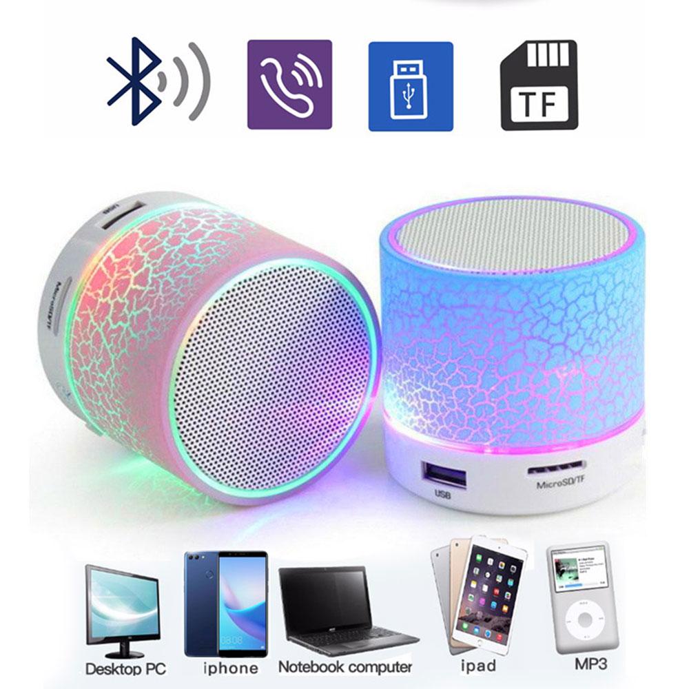 Wireless Portable Mini Bluetooth Speakers Crack LED USB Radio FM MP3 Stereo Sound Speaker For Computer Mobile Phone