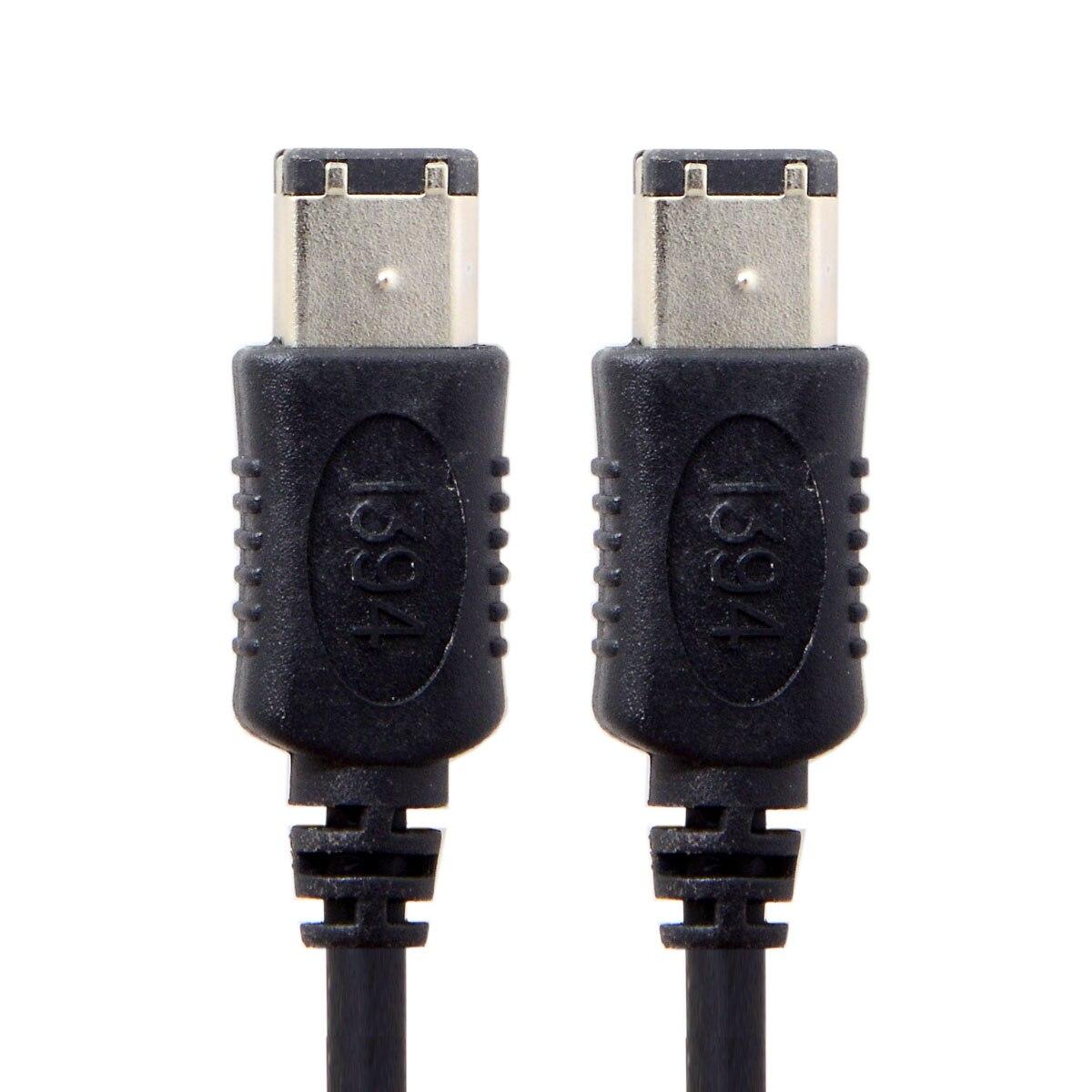 10 pçs/lote CY FW-016-1.6M 6 Pin IEEE 1394 IEEE 1394 iLink Firewire 400 6 6 6pin Cabo IEEE 1394 1.8M Preto