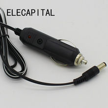 Car Cigarette Lighter 5.5*2.1mm Plug Cigar Power Connector Fused With Light LED With 1.5m Wire Cable