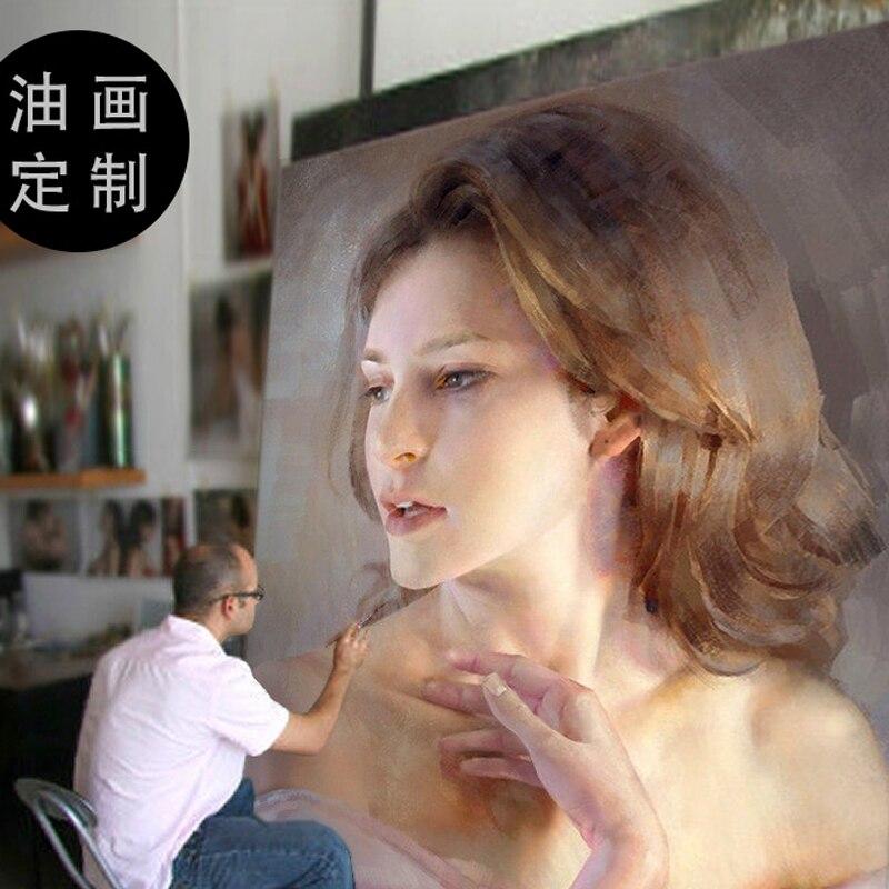 فنان مخصص النفط الطلاء خدمة من صورة أو صورة 100% هاندبينتيد النفط الطلاء على قماش حجم كبير 90 سنتيمتر
