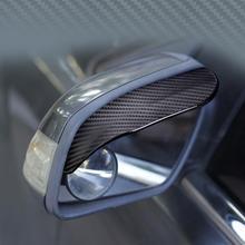 Koolstofvezel Auto Achteruitkijkspiegel Regen Wenkbrauw Voor Suzuki Vitara Swift Ignis Kizashi SX4 Baleno Ertiga