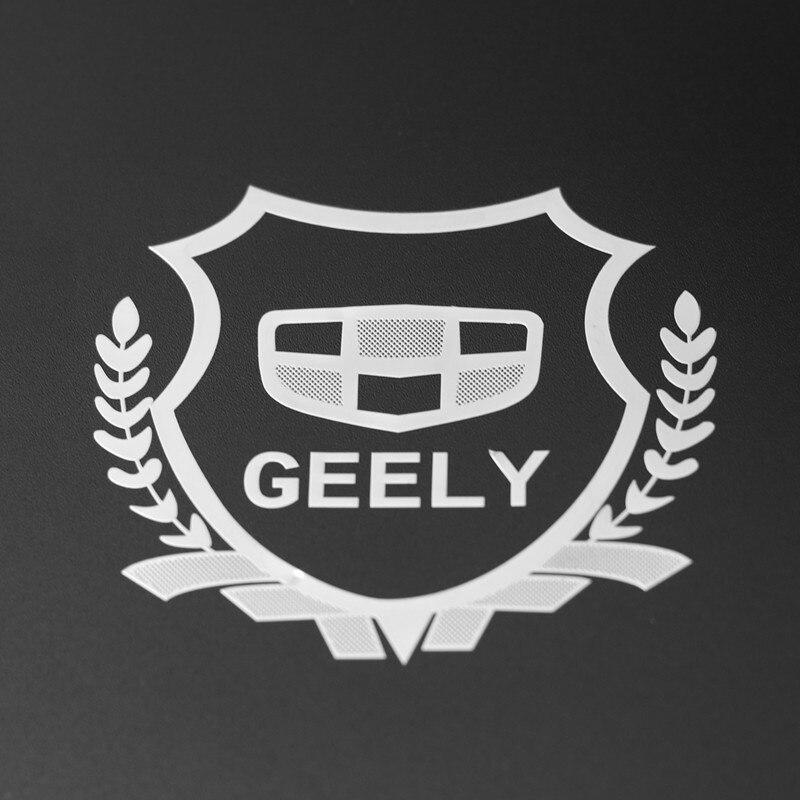 Pegatina de Metal para coche, emblema, funda con insignia 2 uds., excelente 3D para Geely Emgrand Ec7 Emgrand 7 Ec8 X7 Fc Panda Gc7 SX7, diseño de coche Oem