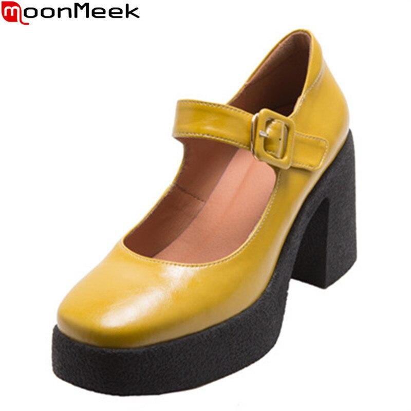 MoonMeek-حذاء زفاف من الجلد الطبيعي للنساء ، حذاء منصة ، كعب عالي ، صيف 2021
