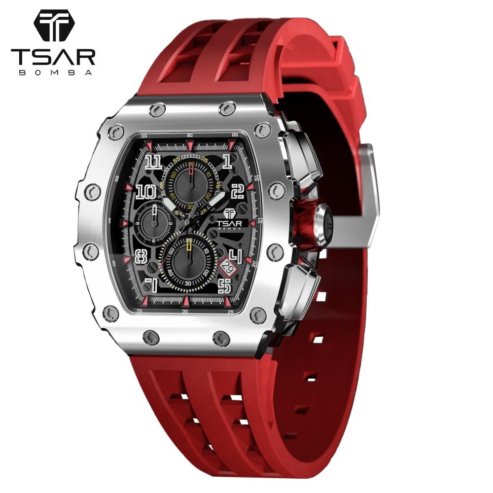 Watches for Men Top Brand Luxury TSAR BOMBA Casual Sport Military Watch Man Clock Fashion Chronograp