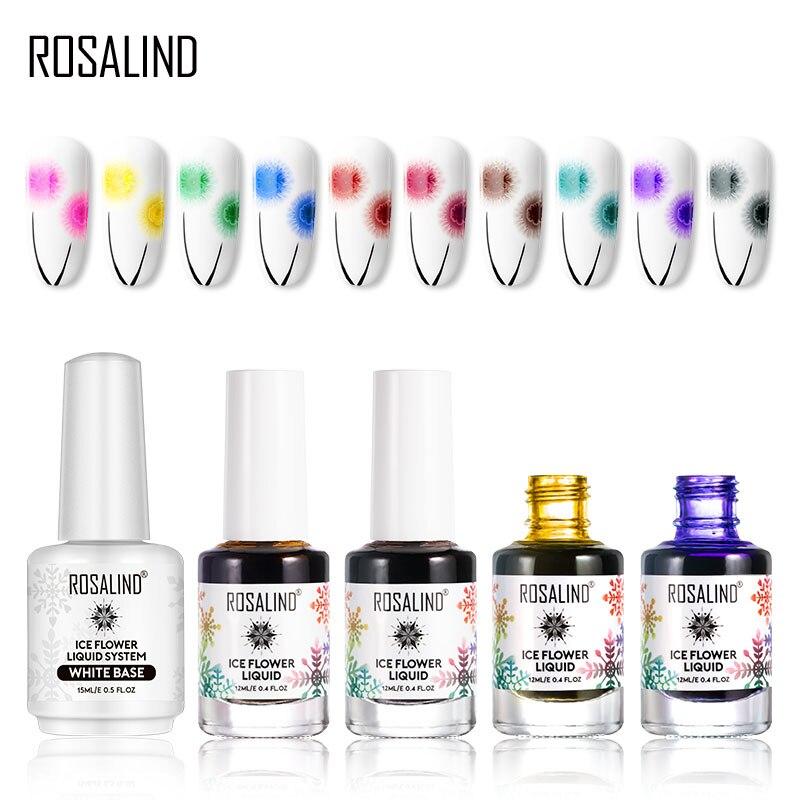 Rosalind creativo esmalte de uñas nieve líquido esencia manicura Semi permanente arte de uñas Primer acrílico polivinílico Base Gel extensión de uñas