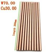 w70 bar w70cu30 tungsten copper alloy bar rod spot welding electrode rod diy material length200mm diameter 1 to 10mm