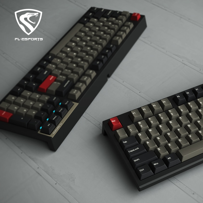 Kailh و FL ESPORTS 98 مفاتيح الساخن مبادلة المقبس لعبة الميكانيكية لوحة المفاتيح مع RGB الخلفية السلكية USB مريح لوحة المفاتيح لأجهزة الكمبيوتر المحمول