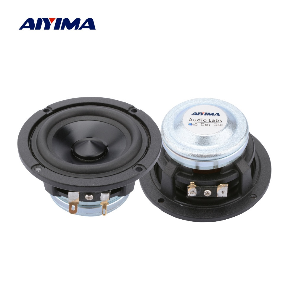 AIYIMA 2Pcs 3 Inch Heimkino Full Range Audio Lautsprecher 4 8 Ohm 15W Sound Auto Mitte Palette lautsprecher Fahrer Aluminium Lautsprecher