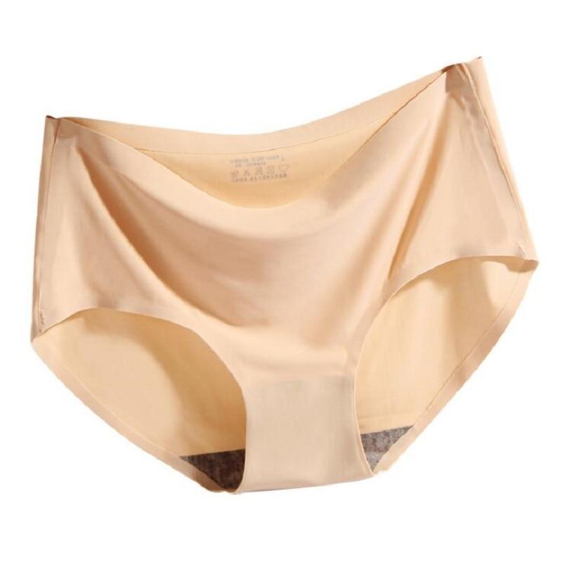 2 قطعة/الوحدة جديد نمط سلس النساء الملابس الداخلية سراويل منتصف الارتفاع مثير حجم كبير ملخصات الملابس الداخلية modis tanga سيدة الحرير الحميمة